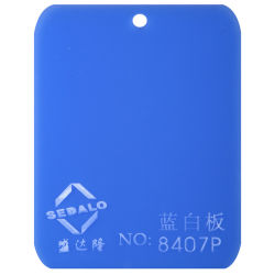 100% нового импортируемых материалов-голубой белый матовый литого акрилового листа