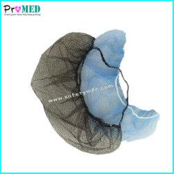 Desechables de nylon/hospital medico y dental/hotel/restaurante Nonwoven/PP/malla elástica simple máscara de la barba/cubierta
