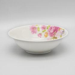 Design de flores de cerâmica salada de porcelana tigela para jantar