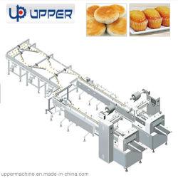 Автоматическая линия упаковки продуктов питания машины на площади с круглой или продолговатой такие продукты как Mooncake, яйцо /риса/ торт, Cupcake горчицы