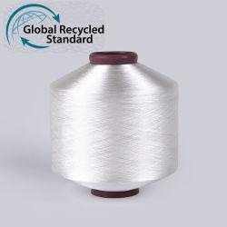 AA recyclés de classe des fils de polyester tissé de fils FDY recyclés pour l'étiquette
