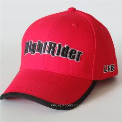 OEM на заказ вышивка спандекс хлопка эластичные бейсбола крышку Red Hat и полностью закрытом установлены винты с головкой