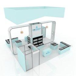 Montagem simples 6X6 M Trade Show Portátil do mostrador da cabine de exposições simples modular oferecem design 3D