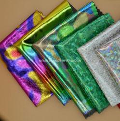 虹のジャケットの風のコートのためのネオン虹色の反射印刷されたカムフラージュファブリック
