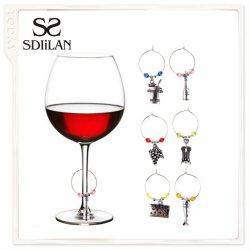 Mode bijoux pendentif Accessoires de décoration en verre de vin