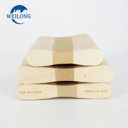 中国製シラカバ木自然なカラーアイスクリームのスプーン