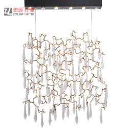 銅のペンダント灯現代的なデザイン低下LEDの銅のガラスシャンデリア