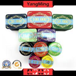 730PCS Chips Poker azar com raios UV e Casino logotipo pode ser personalizada com o caso (YM-LCTJ002)