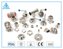 accessori per tubi sanitari del tubo della valvola del gomito del sindacato del T dell'acciaio inossidabile di 304/316L 3A/SMS/DIN/ISO