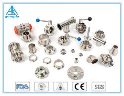 304/316L 3A/SMS/DIN/ISO Union Tee en acier inoxydable sanitaires coude Raccords de tuyauterie de tube de soupape