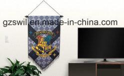 Seite der Form-Förderung-Digital-Drucken-Dekoration-Ausstellung-Bildschirmanzeige-eine druckte Filz-Fahnen-Markierungsfahne