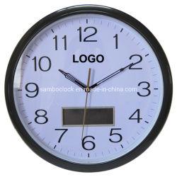 12 orologio di parete promozionale dell'affissione a cristalli liquidi Digitahi di pollice