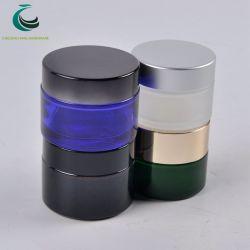 De in het groot Kosmetische Kruik van het Glas met de Deksels van het Aluminium voor de Verpakking van de Room