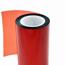 pellicola di plastica impermeabile del PVC di colore rosso di 0.4mm per la decorazione della finestra