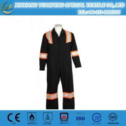 Venda a quente fato-macaco de segurança uniformes de protecção do trabalhador da construção industrial com fita refletiva Macacão