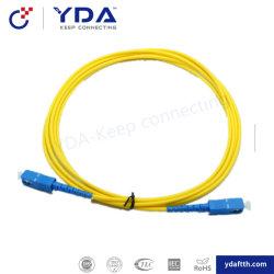 FTTH LC 3m St APC/cordon de raccordement de l'UPC 3.0mm 2.0mm Mode unique de haute qualité Bon prix cordon de raccordement à fibre optique