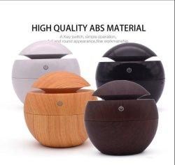 130ml Arôme USB Huile essentielle de l'humidificateur à ultrasons diffuseur Cool Mist Purificateur d'air avec du grain du bois