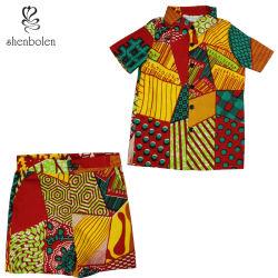 2020 летние африканском стиле мальчика кофта короткие втулки 2 штук, дети износа африканских износа