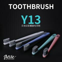 Emballage individuel plastique brosse à dents avec poils en spirale