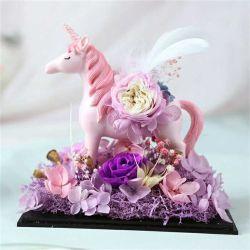 Китай горячая продажа сохранить букет сохранить Unicorn подарок для украшения