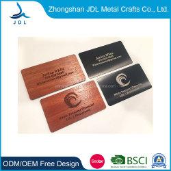 بطاقة اسم بطاقة عمل من الألومنيوم المعدني عالي الجودة مع تخصيص الشعار (02)
