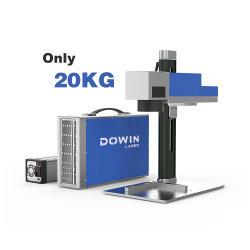 Портативный мини-20W 30W Raycus волокна станок для лазерной маркировки на металлический логотип ПЭТ-Tag кожаные PP ПВХ Dog Tag лазерный маркер