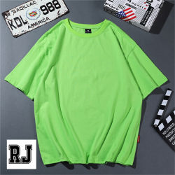 قمصان صيف 2020 للرجال 100% من القطن الصلب غير الرسمي قميص أخضر أساسيات الياقة الدائرية عالية الجودة بحجم مالي أطلق العنان لطاقتك