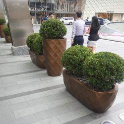 Fo-239 Maceta de fibra de vidrio cónica de Jardín Sembradora la decoración del hogar jarrón