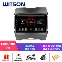 Witson Android 9.0 2 DIN DVD-плеер для автомобиля Ford Edge 2015-2018 построенный в 2 ГБ оперативной памяти 16Гб флэш-памяти всеобщей автомобильных мультимедиа
