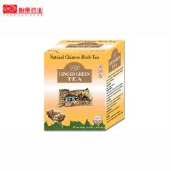 إن الصحة الصينية التي يقدمها الشاي الأخضر الزنجبيل الفوري تفيد الجسم الدافئ الذي ينير