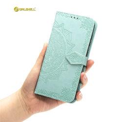 Couro Cutomized PU Caso Telefone com slot de cartão para iPhone 11