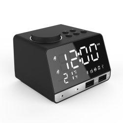 K11 Reloj Despertador Espejo Altavoz inalámbrico Bluetooth radio FM con el termómetro