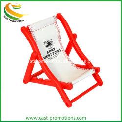 Promoción personalizada Silla de playa de plástico celular soporte con logotipo impreso