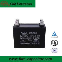Kondensator Cbb61 mit zylinderförmigem Plastikgehäuse für Ventilator