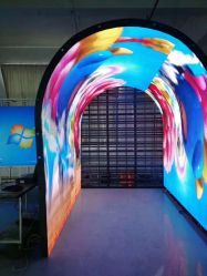 Creative forme spéciale plafond incurvé afficheur LED du vérin pour l'hôtel