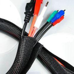 Polyester-langlebiges Gut öffnen die expandierbare umsponnene Verpackung wieder, die für Draht-Management Sleeving ist