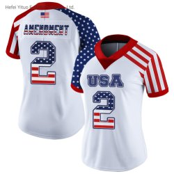 Novo Design bordados OEM Versão Bandeira Football n˚ 2 Camisolas de vestuário