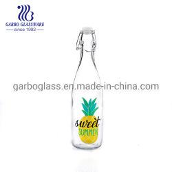540ml garrafa de água de vidro do Adesivo de frutos de sumo de vidro ou garrafas de vinho boiões de vidro para Bar ou partido com o logotipo da flor personalizados (GB46020540-T1)