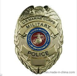 Fabricado na China Custom 3D pino esmalte duro polícia Metal Pin de lapela emblema da Polícia Militar de dons (YB-L-42)