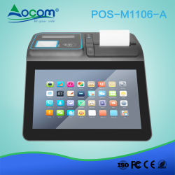 Ordinateur portable 11 pouces écran tactile Caisse enregistreuse tablette Android système POS avec imprimante