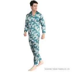 Pyjamas der reinen Maulbeere-Seide-gedruckten Männer