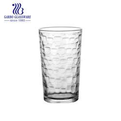 12ozガラス水タンブラージュースの刻まれる内部の飲むガラス製品のガラスコップ