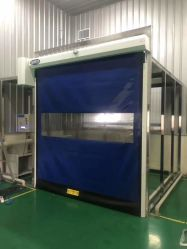 Exterior Industrial & Rápido interior de plástico rápida material comercial Garagem Obturador de cilindro de alta velocidade as portas de PVC