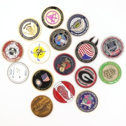 preço de fábrica Design Livre Custom Antique Loja Metal Atividade Duplo moedas 3D 2D