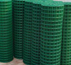ヨーロッパの塀のオランダの金網の建築材料PVCコーティングは鉄によって溶接された金網に電流を通した