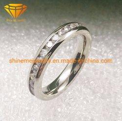 Einlegearbeit-Titanhochzeits-Ring Tr1920 der Form-und Qualitäts-Schmucksache-Titanschmucksache-3.5mm der Edelstein-30PCS