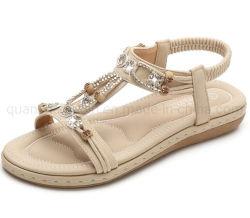 OEM estilo boémio Beach Diamond-Bordered Casual sandálias femininas