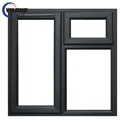 Triple acristalamiento plegado de la bisagra de la ventana de PVC de color