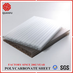 ورقة الجلو متعددة الجدران من البولي كربونات ذات التأثير العالي في الصين كوانفو للبناء