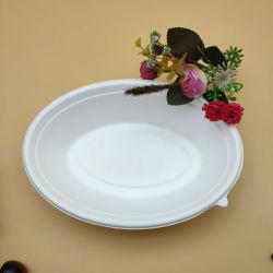 Formato Oval Salada descartáveis Taça 24oz Dinnerware Definir Restaurante Pasta de Papel